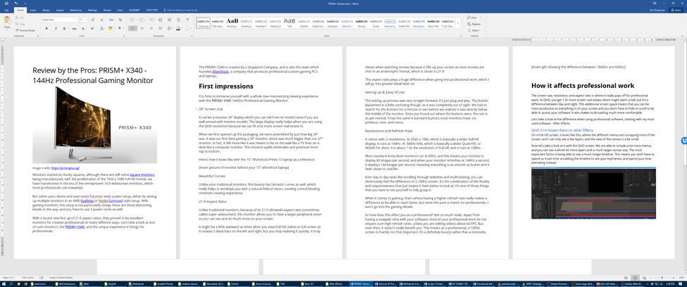 word document screen example 4